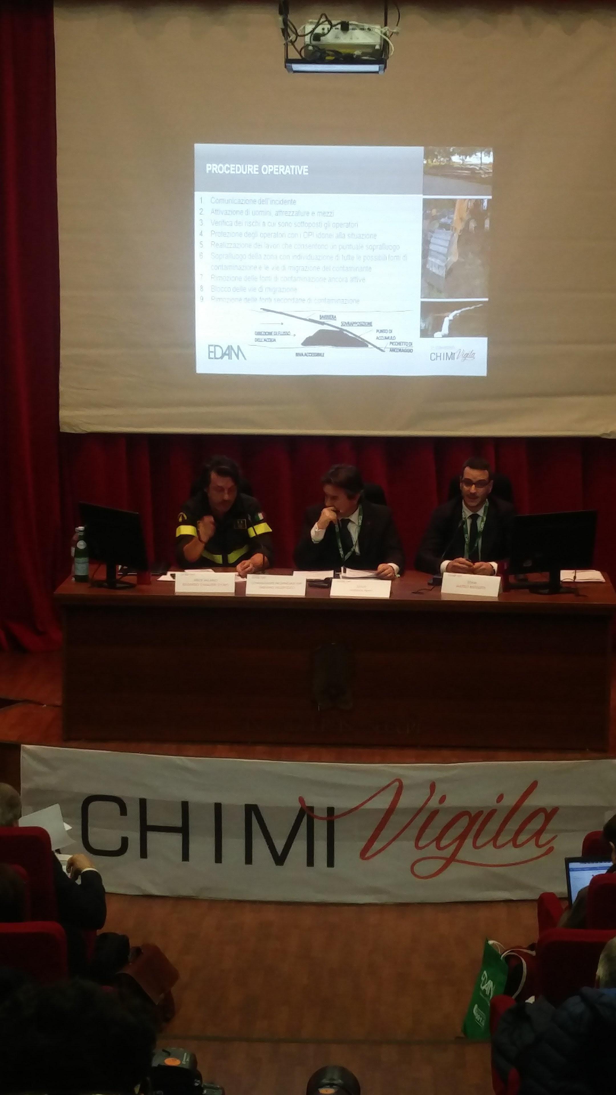 Matteo Bistoletti per Edam parla della difficolta di stabilire procedure operative in caso di disatri ambientali