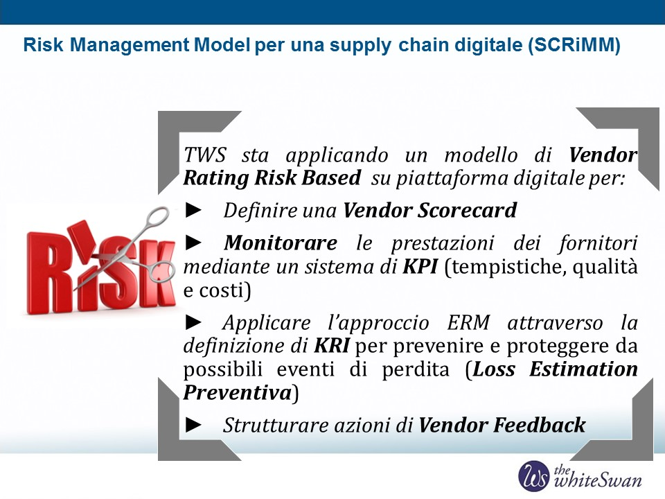 SCRiMM risk management supply chain digitale