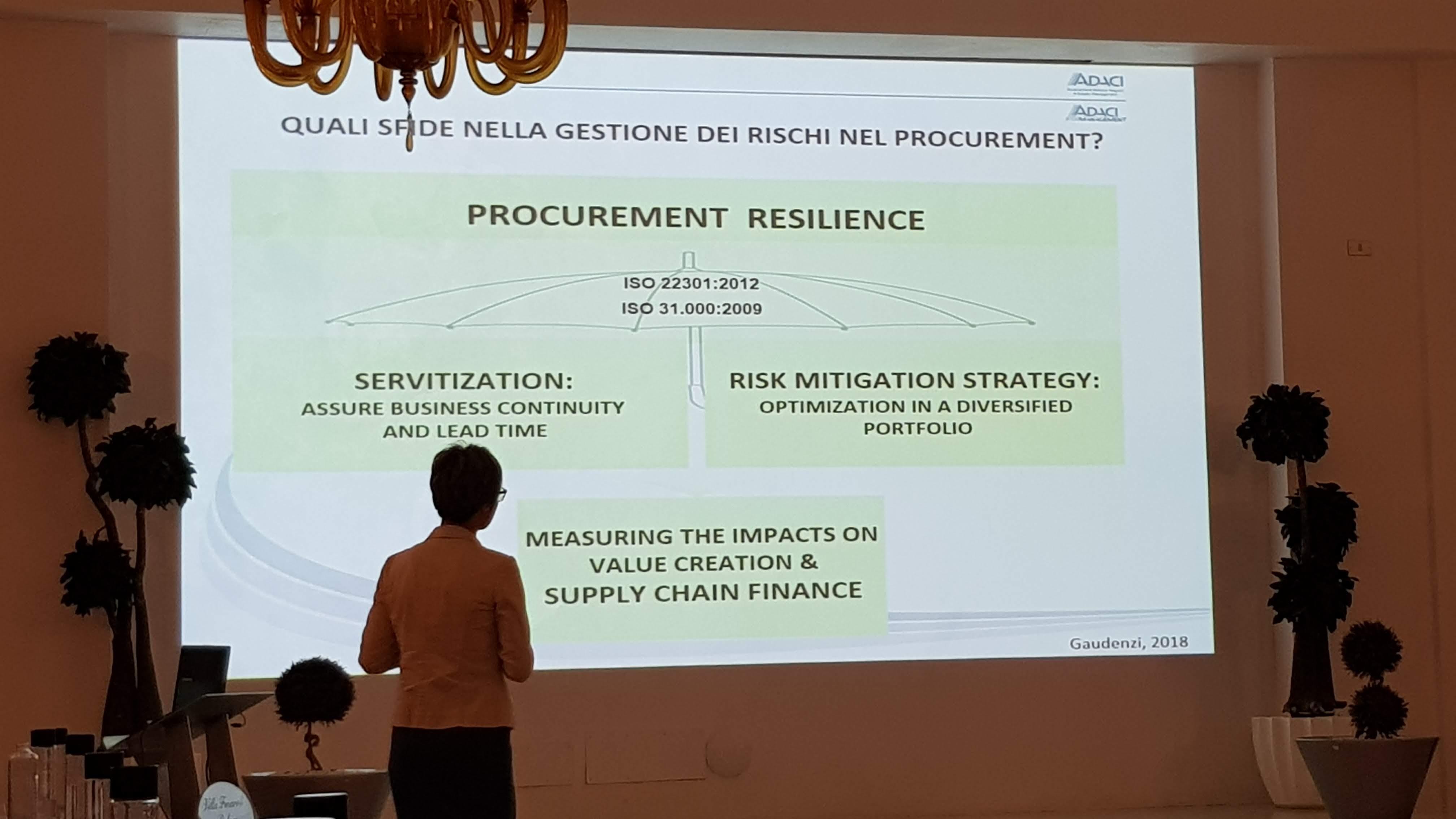 Barbara Gaudenzi sul procurement resilience